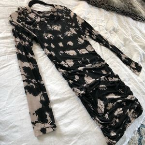 Gypsy 05 black and taupe marble patterned dress